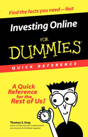 Investing Online for Dummies Quick Reference by Thomas S. Gray image