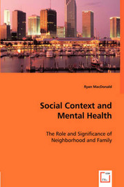 Social Context and Mental Health by Ryan MacDonald image