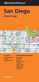 Folded Map San Diego CA Street by Rand McNally