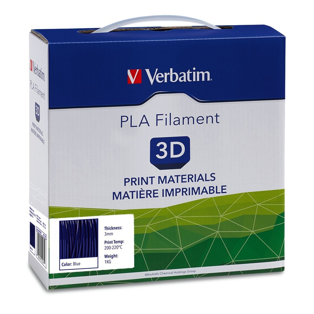 Verbatim 3D Printer PLA 3.00mm Filament - 1kg Reel (Blue) image
