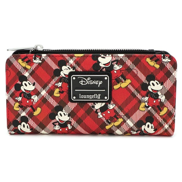 Loungefly: Mickey Mouse - Mickey Tartan Print Bifold Wallet