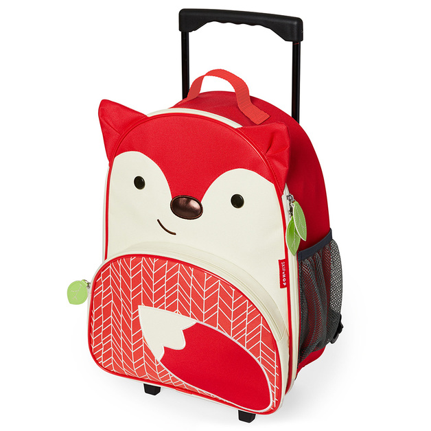 Skip Hop: Zoo Kids Rolling Luggage - Fox