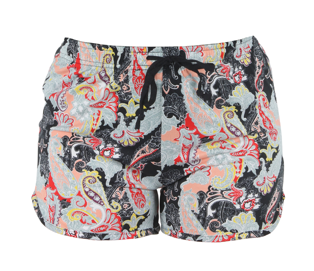 Hello Mello: Midnight Paisley Lounge Shorts - L-XL