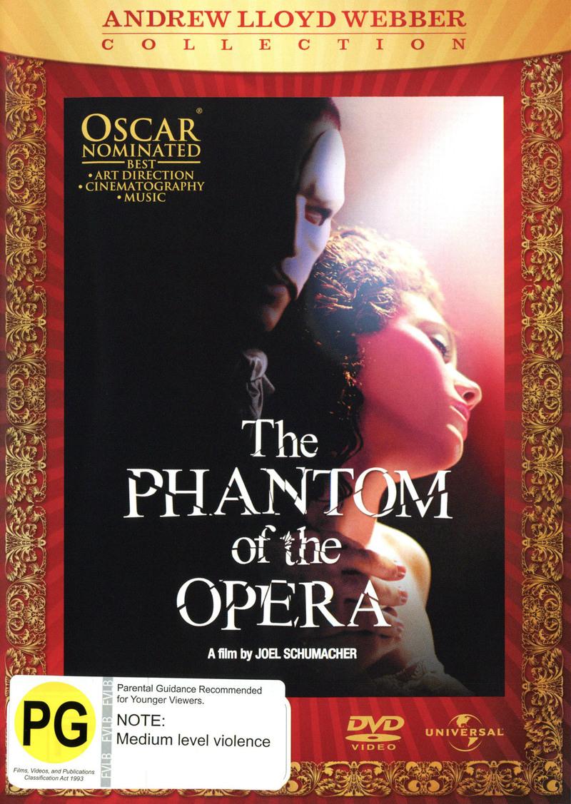 The Phantom of The Opera (2004) on DVD image