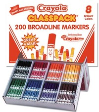 Crayola: 200 Classic Washable Marker Class Pack - 8 Colours