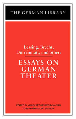 Essays on German Theater by Margaret Herzfeld-Sander image