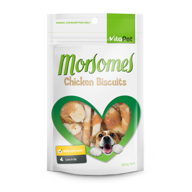 Vitapet: Morsomes Chicken Biscuits (100g)