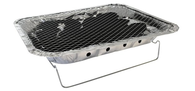 Kiwi Sizzler Disposable Charcoal BBQ Grill - Ready to Light