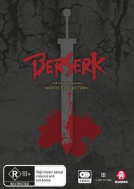 Berserk: The Golden Age Arc Movie Collection on DVD