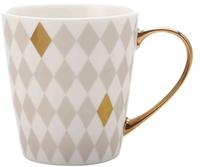 Maxwell & Williams Aurora Mug Gold Handle 300ML Diamond Grey
