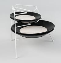 L.T. Williams - Plate Stacker - White