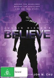 Justin Bieber's Believe on DVD