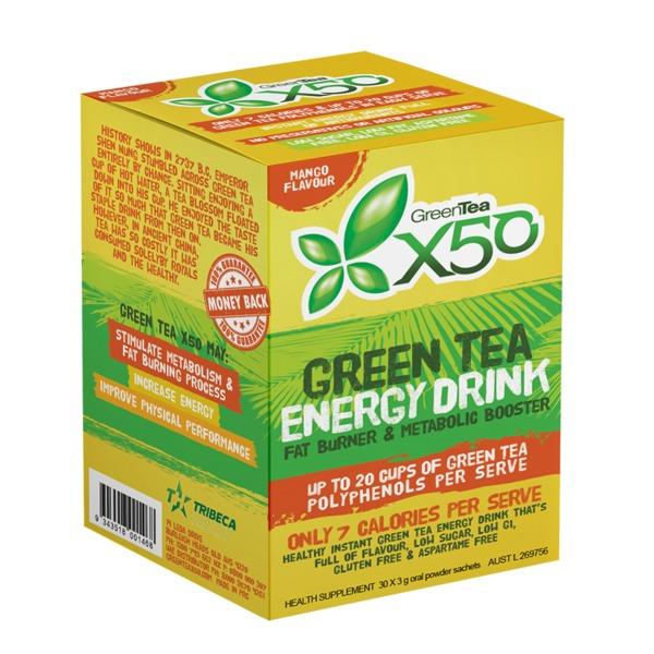 Green Tea X50 - Mango (30 Sachets)