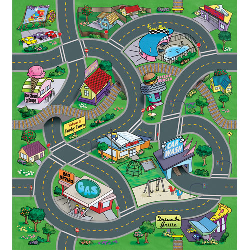 Buy Matmax Playmat Amp Vehicles Funky Town At Mighty Ape