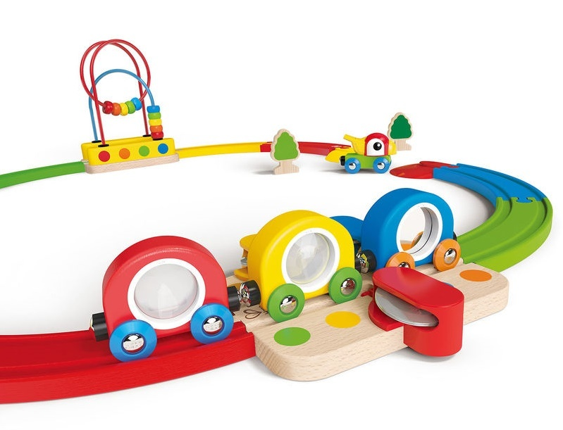Hape: Sights & Sounds Railway Set image