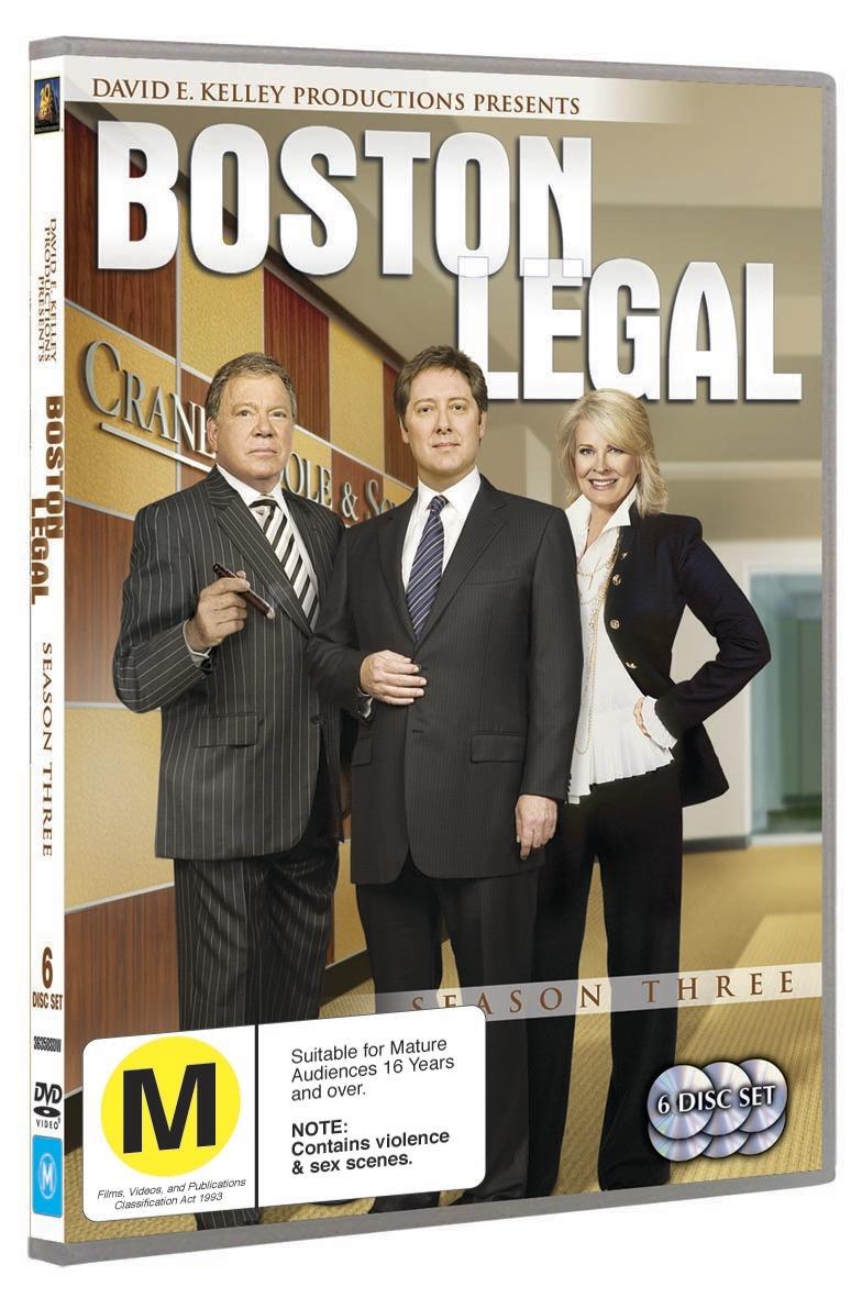 Boston Legal - Season 3 (6 Disc Set) on DVD image