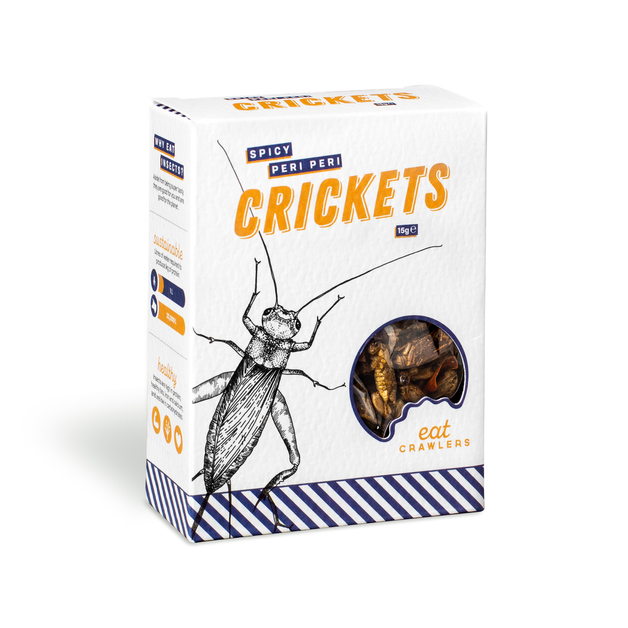Eat Crawlers: Spicy Peri Peri Crickets (15g)