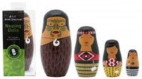 NZ Gift: Maori Whanau - Nesting Doll Set