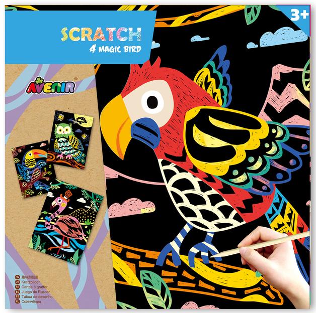 Avenir: Scratch Art Kit - Magic Bird