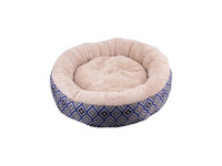 """Pawise: Round Dog Bed - Blue 22"""""""