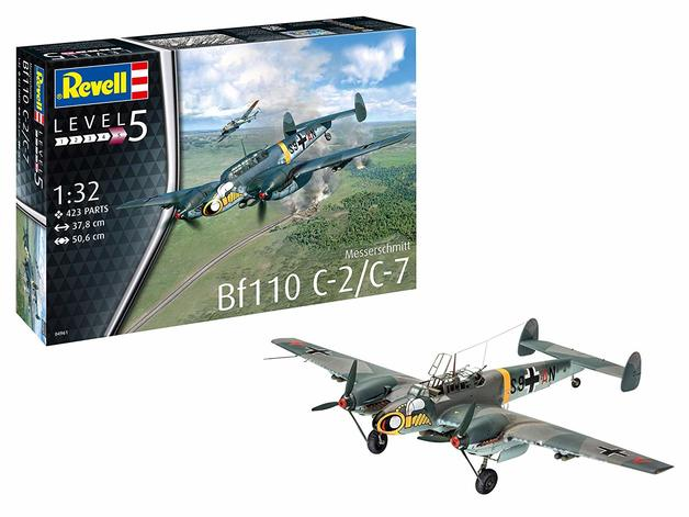 Revell: Messerschmitt BF110 C-2/7 - 1:32 Scale Model Kit