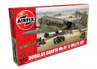 Airfix 1:72 Douglas Dakota MkIII with Willys Jeep Model Kit
