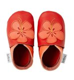 Bobux Soft Soles: Red Hibiscus- (Size XL)