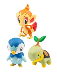 Pokemon: Moncolle EX Sinnoh Starters - 20th Anniversary Set