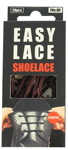 Easy Lace Round Shoelace - Brown