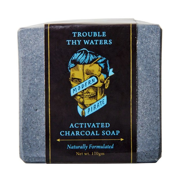 Modern Pirate: Trouble Thy Waters Activated Charcoal Soap