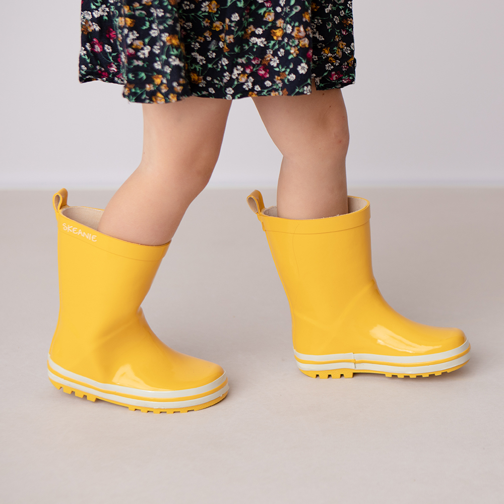 Skeanie: Kids Gumboots Yellow - Size 35 image