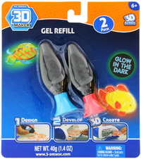 3D Magic: Glow in the Dark - Refill Pack (Assorted Colours)