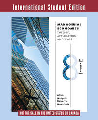 Managerial Economics by W. Bruce Allen