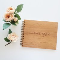 Cardtorial Wooden Guestbook - Ever After image
