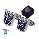 Transformers: Purple Decepticon Logo Stud Earrings