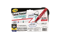 Crayola: Take Note - Chisel Tip Whiteboard Markers - Black,Blue,Red,Green (4 Pack) image