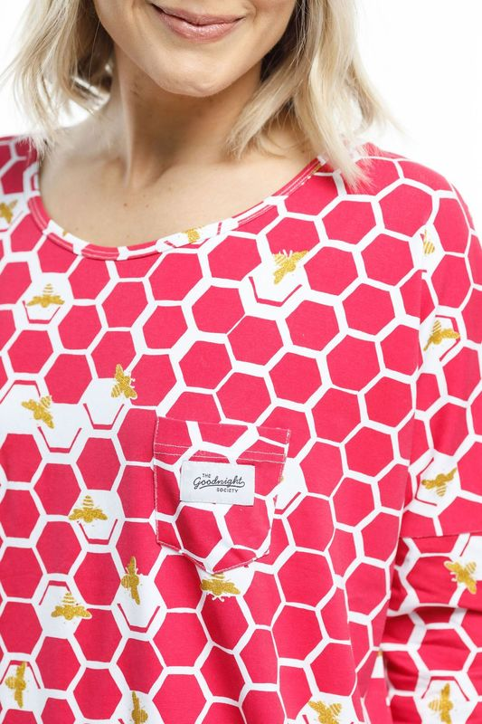 The Goodnight Society: Long Sleeve Tee Honey Bee - XS