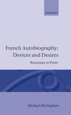 French Autobiography: Devices and Desires by Michael Sheringham image