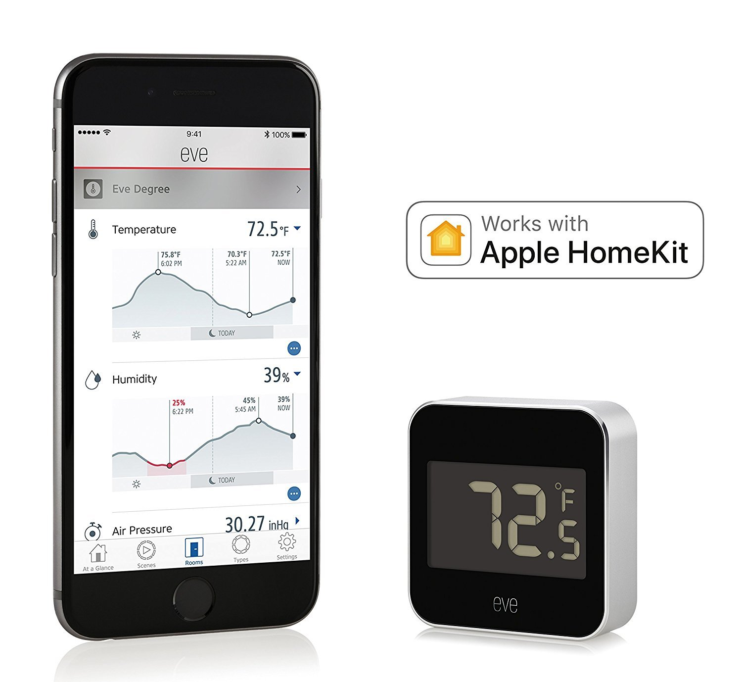 Elgato Eve Degree Temperature And Humidity Monitor At