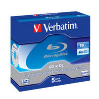 Verbatim BD-R DL 50GB 5pk JC 6x