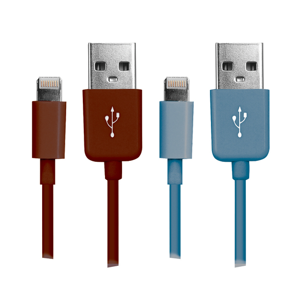 Lightning Cables Twin Pack (Red/Blue)