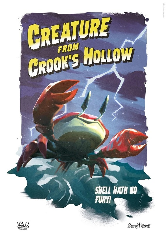 Sea of Thieves - Premium Art Print - Creature from Crook's Hollow