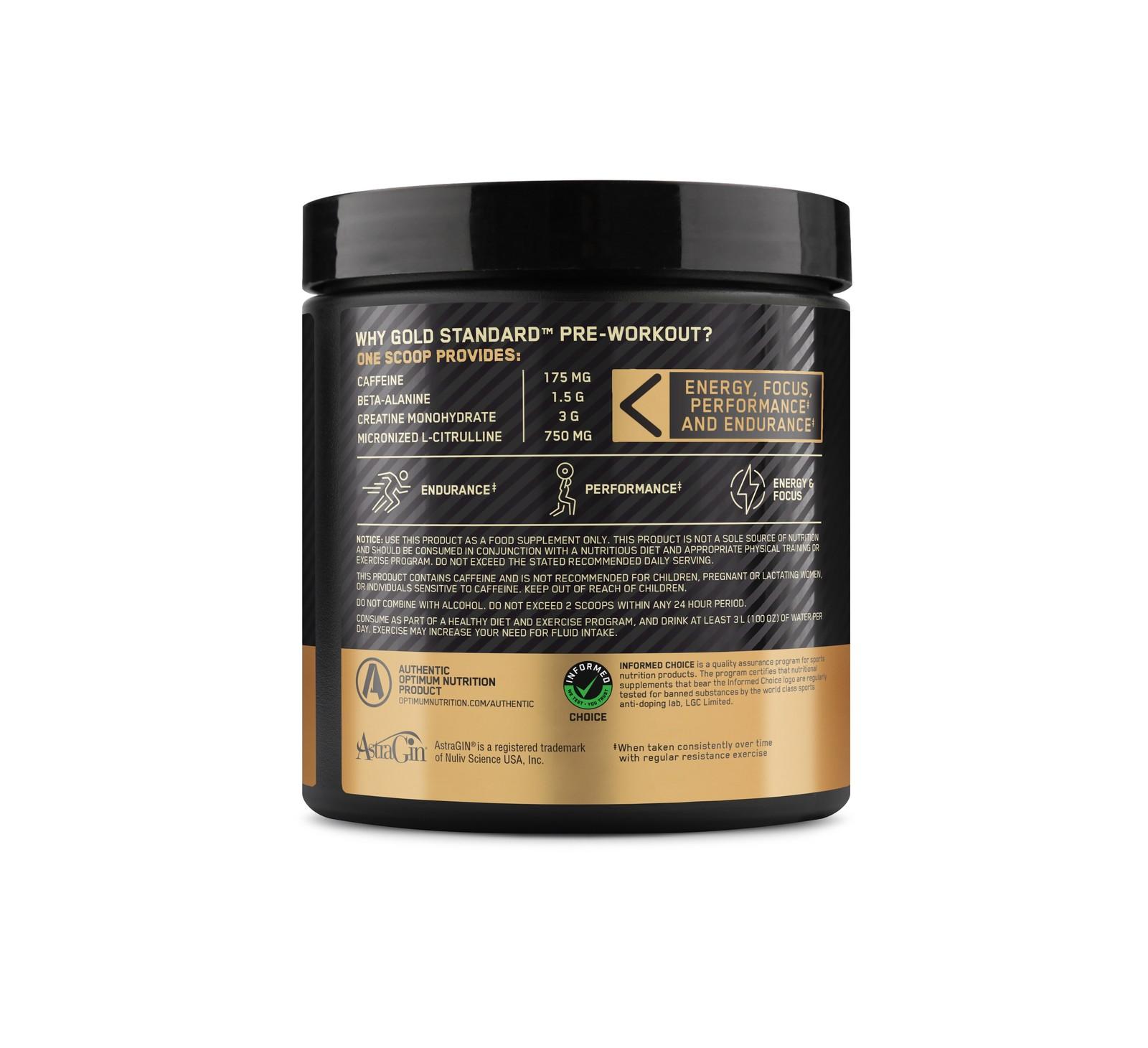 Optimum Nutrition Gold Standard Pre-Workout - Green Apple image