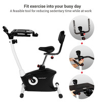 Loctek F206DBT Exercise Bike with Tabletop