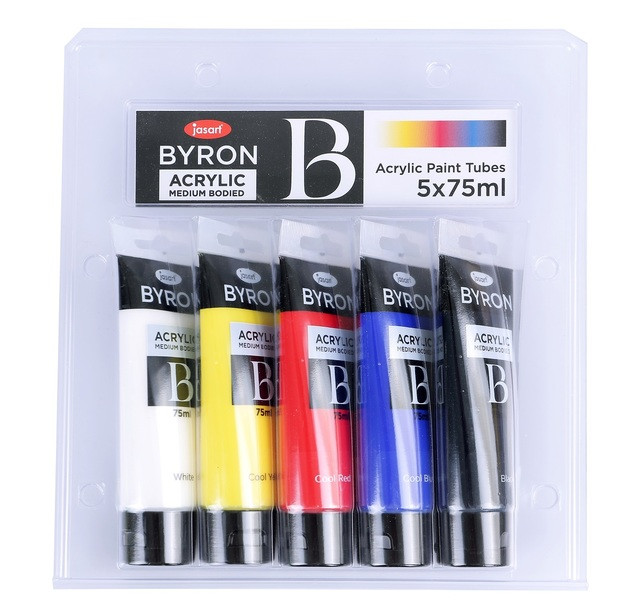 Jasart: Byron Acrylic Paint - 75ml (Set of 5)
