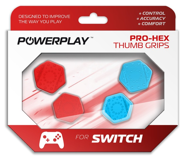 PowerPlay Switch Pro-Hex Thumb Grips (Neon) for Switch
