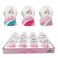 Pink Poppy: Mini Unicorn - Snow Globe (Assorted)