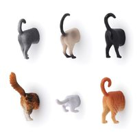 Kikkerland Cat Butt Magnets (set of 6)
