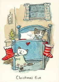 Two Bad Mice: Christmas Eve - Greeting Card