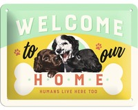 Nostalgic Art Tin Sign - Welcome Puppies